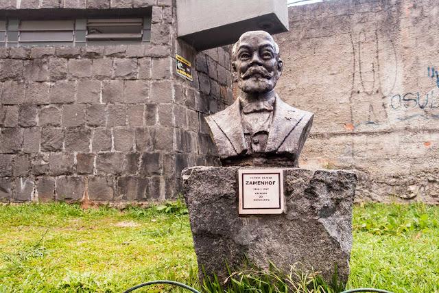 O busto de Ludwik Lejzer Zamenhof, o criador do esperanto