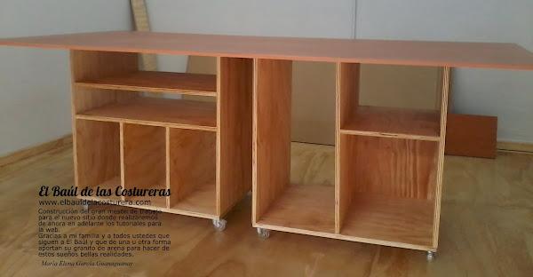 Mesa o banco de trabajo para costura for Muebles de costura