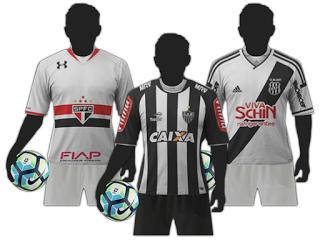 Kit Uniforme Completo - SB Kits - Brasil Serie A para Brasfoot 2017