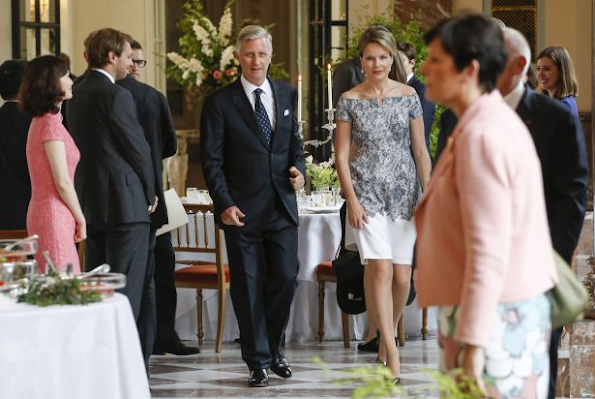King and Queen Mathilde received the participants of Brussels-Asia Society Dialogue for dinner at the Royal Palace in Laeken