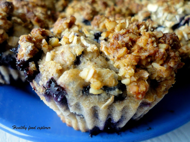 Dietetyczne muffinki z borówkami