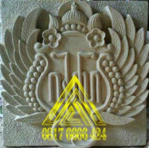 ornamen batu alam lambang kraton yogyakarta