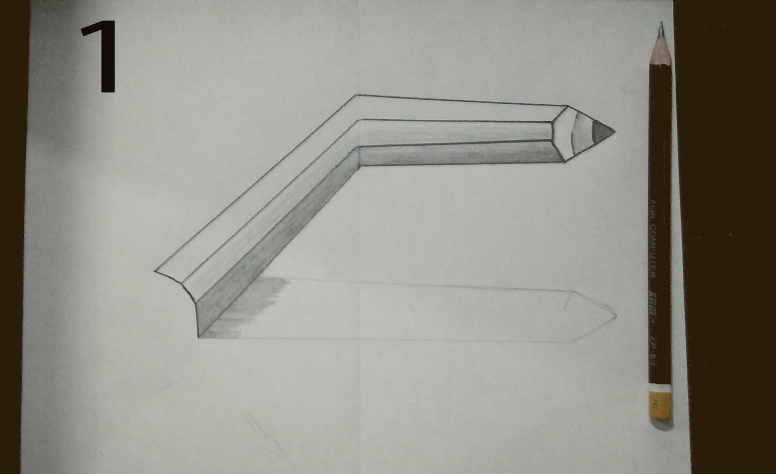 Sketsa Pensil By Oneng Werang Kumpulan Gambar 3d Dengan Ilustrasi