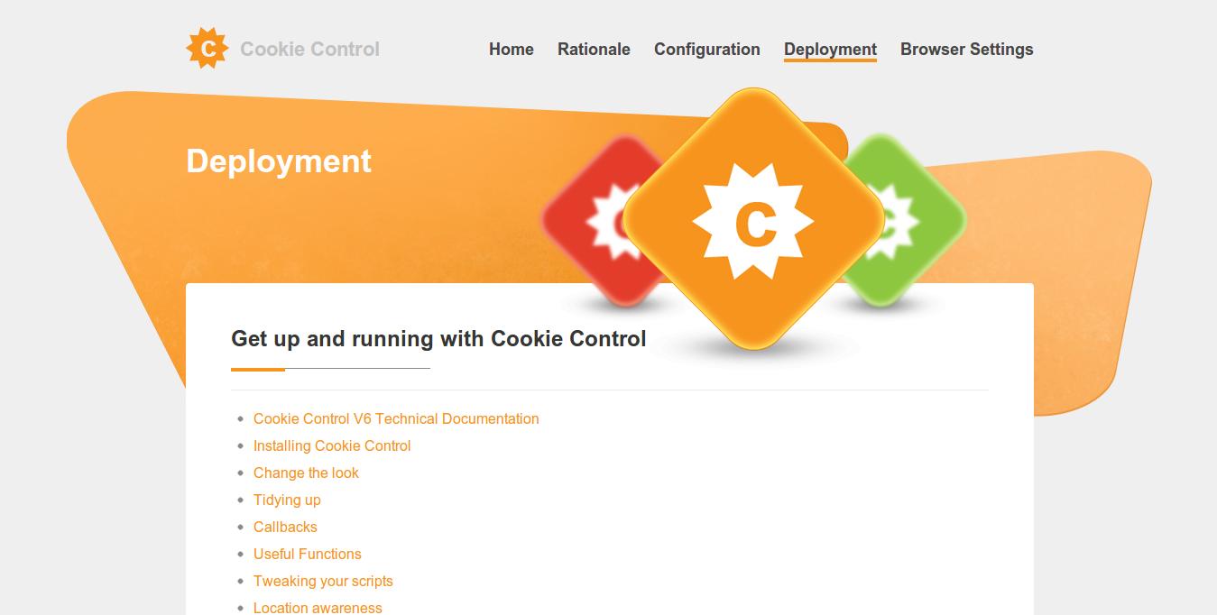 Modul chace Cookie Control untuk mempercepat website Anda