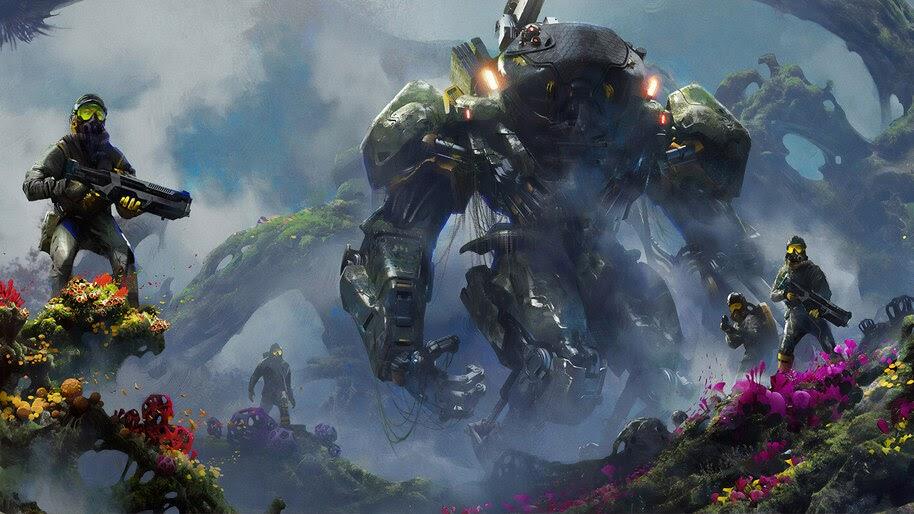 Sci-Fi, Soldiers, Robot, Mech, 4K, #4.1043
