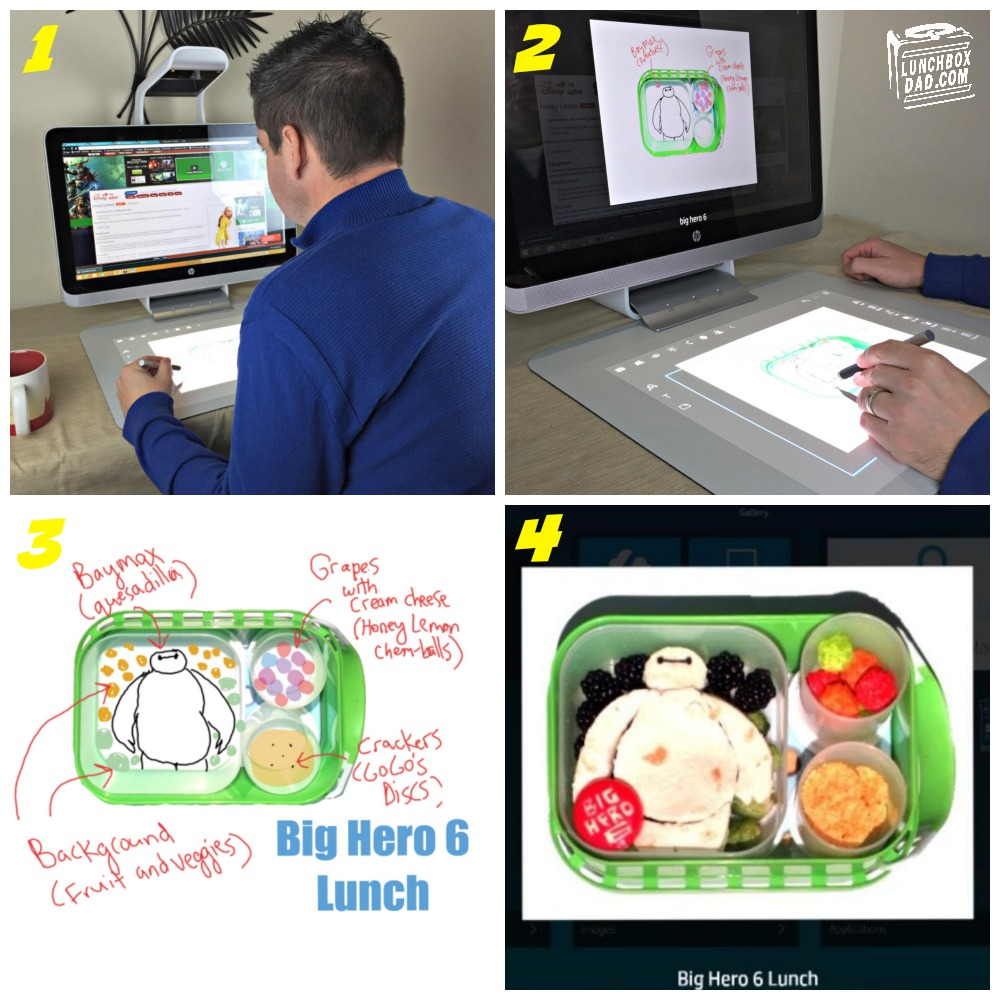 Making a Big Hero 6 lunch with the Sprout by HP
