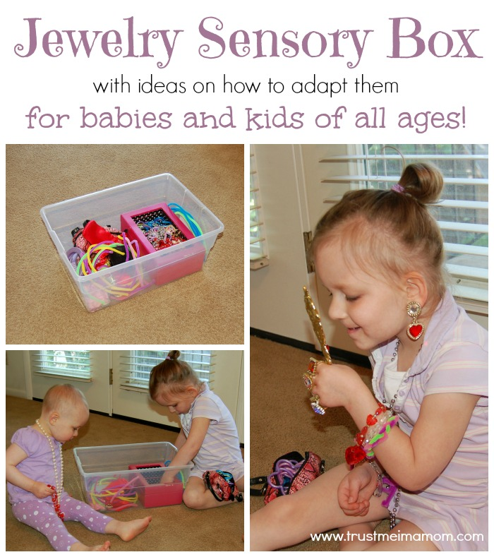 Jewelry Sensory Box for babies, toddlers & preschoolers