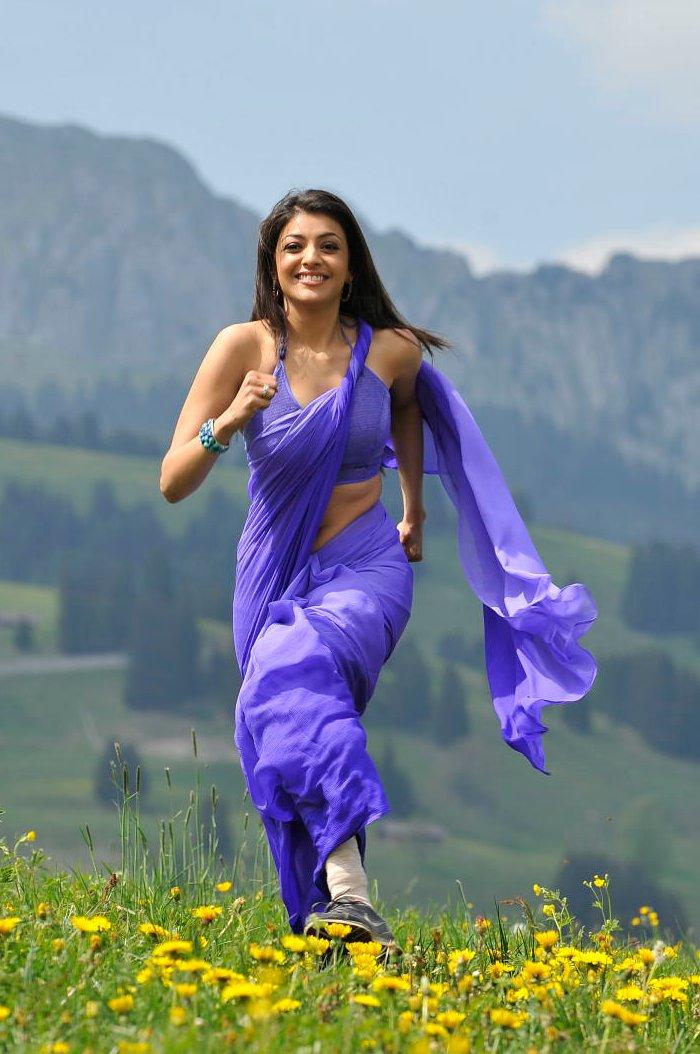Actress Kajal Agarwal Hot Saree Photos Stills Pics In -9687