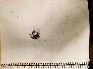 Boceto original mapa Isla de Monkey Island