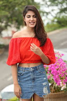 Rhea Chakraborty in Red Crop Top and Denim Shorts Spicy Pics ~  Exclusive 105.JPG