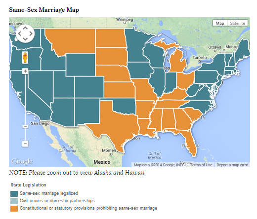 Gay marriage 32 states