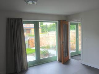 modern eco-living room in passive solar house