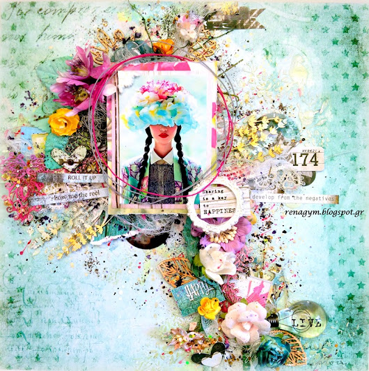 Sharing is a Key To Happiness!!Video tutorial for Mixed Media Place.