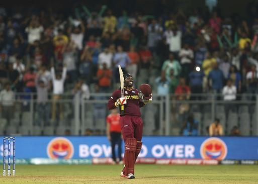 Chris Gayle smashed a sensational unbeaten century worldT20 Cup 2016