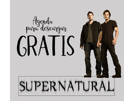 agenda, supernatural, sobrenatural, descargar, gratis, pdf, imágenes, sam, dean, castiel