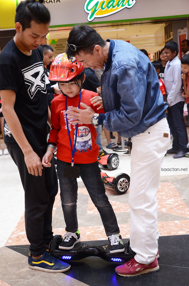 The kids got to experience the hoverboard too!