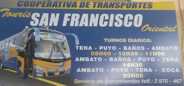 Cooperativa de Transportes San Francisco en la ciudad de Tena