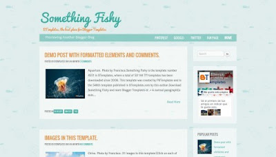 Something Fishy Blogger Templates