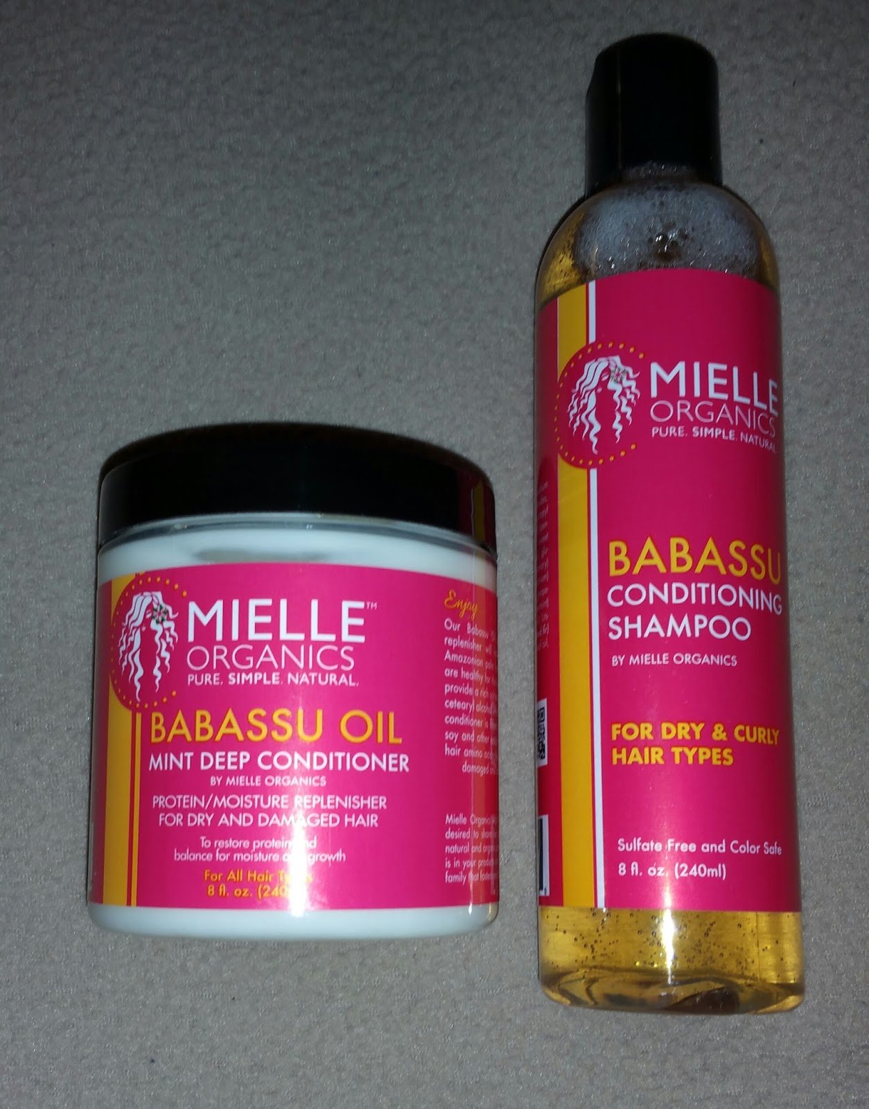 Organics shampoo and conditioner