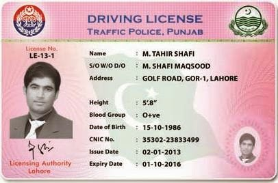 In License Punjab Pakistan Driving