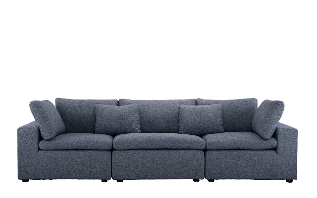 Alvina Contemporary Linen Lounge Sofa