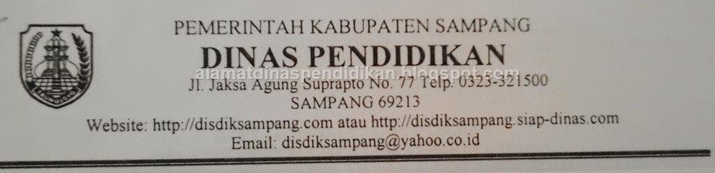 Alamat Dinas Pendidikan Kabupaten Sampang   Alamat Dinas ...