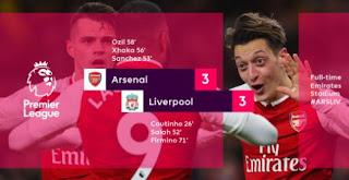 Arsenal vs Liverpool 3-3 Video Gol & Highlights