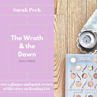 The Wrath & the Dawn by Renee Ahdeih a sneak peek on Reading List