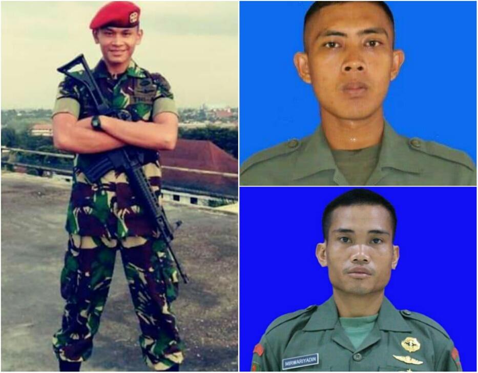 Ketiga prajurit TNI yang tewas diserang kelompok separatis di Papua