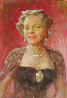 Portrait Study of Elegant Woman, Nikolai Becker