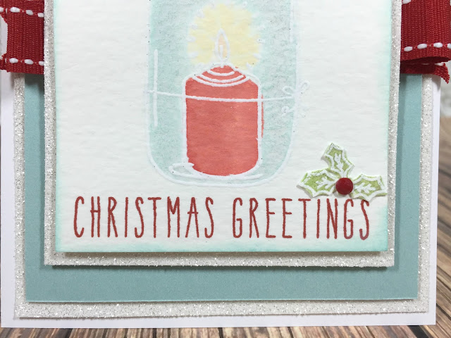Christmas Greetings stamped card