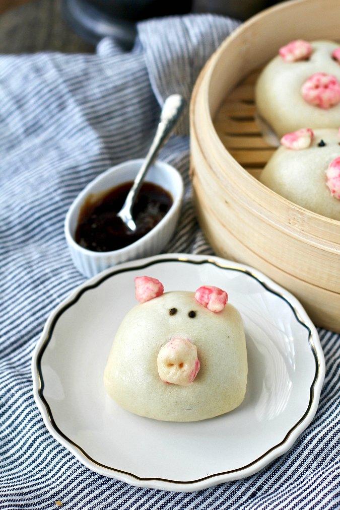 Steamed Piglet Buns Dim Sum