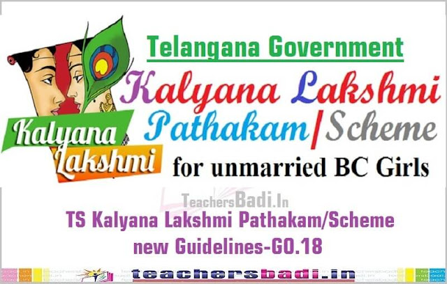 TS Kalyana Lakshmi Pathakam,Scheme new Guidelines,GO.18