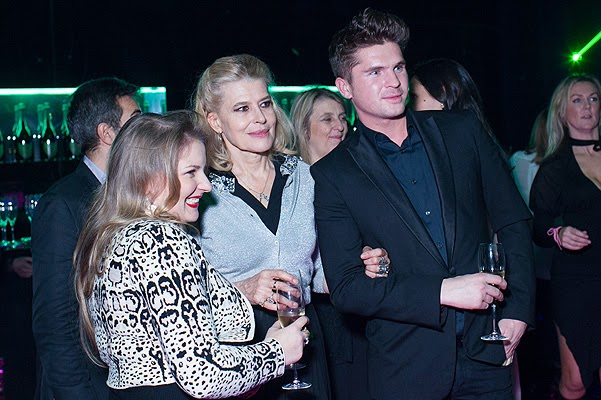 Fanny Ardant and other stars at the bubbly party in Moscow