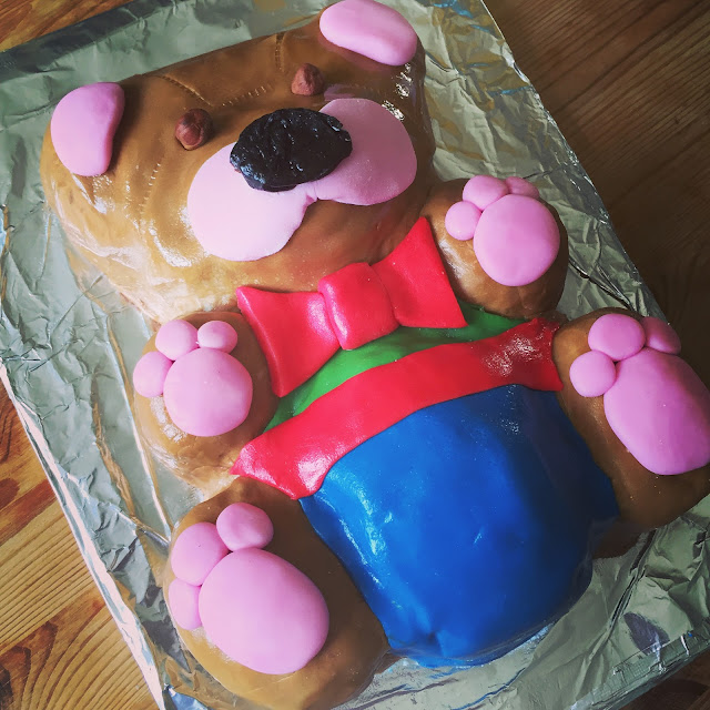 Mrs Bishop's finished Teddy Bear cake