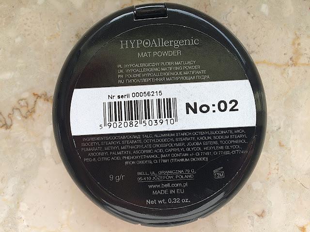 Bell, HYPOAllergenic - puder matujący