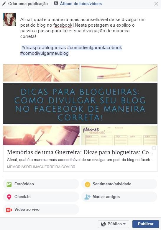 Aprenda a divulgar seu blog no facebook de maneira correta