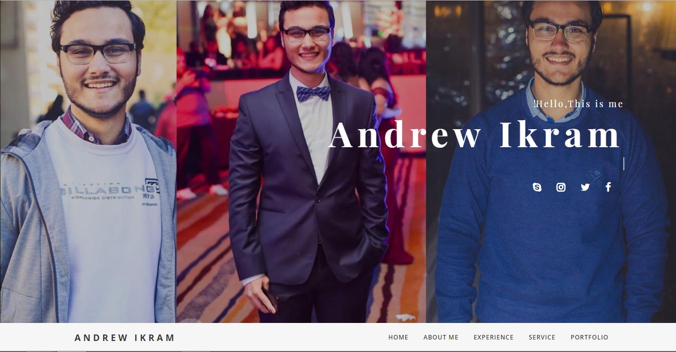 Andrew Ikram personal website