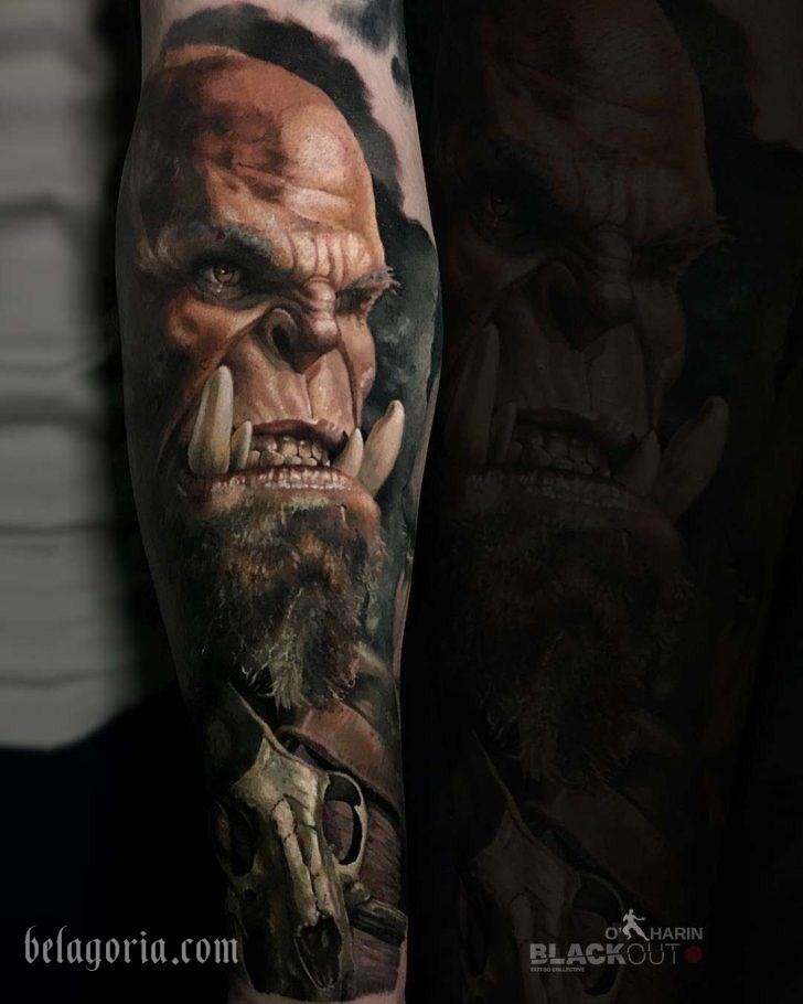 Tatuaje espectacular en estilo realista