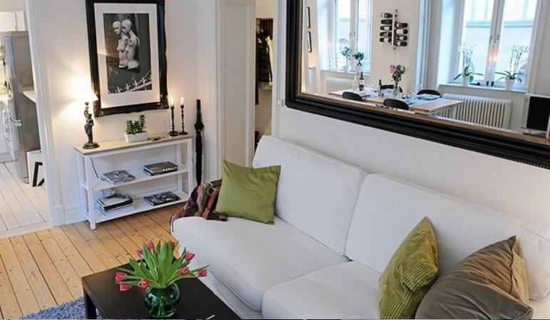 Decoracao Sala Pequena Com Espelho ~ Decoração de Apartamento  Sala Pequena com Espelho