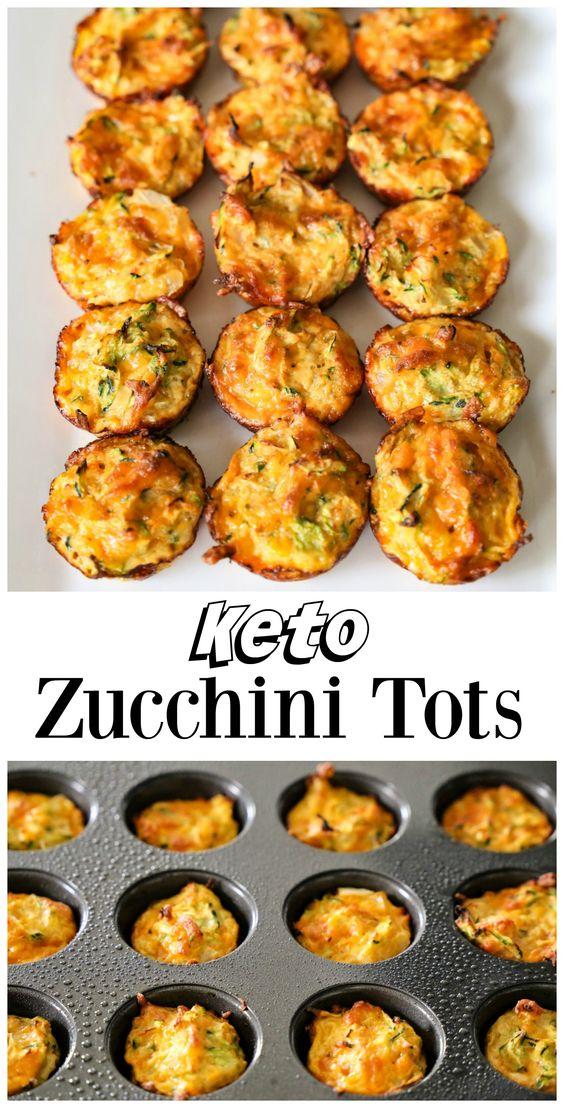 Keto Zucchini Tots #snack #sidedish #keto #zucchini #tots