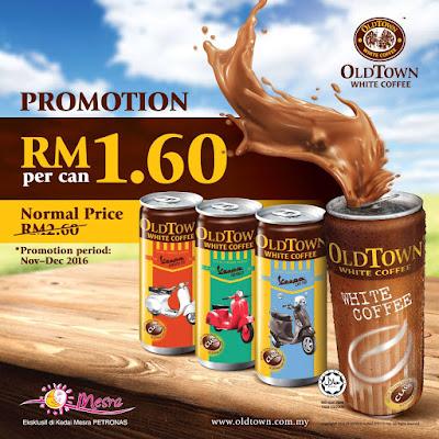 OLDTOWN White Coffee canned drinks Kedai Mesra Petronas
