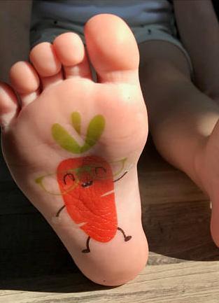 Carrot Temporary Tattoo
