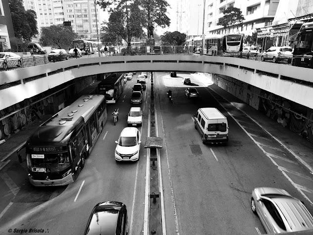 Vista superior do Túnel Jose Roberto Fanganiello Melhem Consolação São Paulo