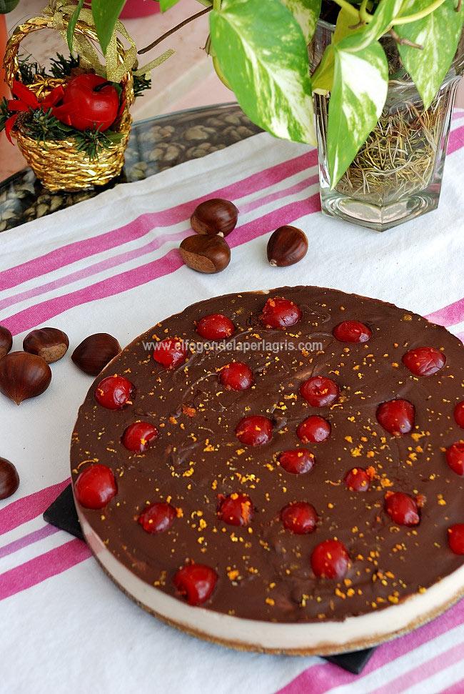 Receta tarta castañas y chocolate