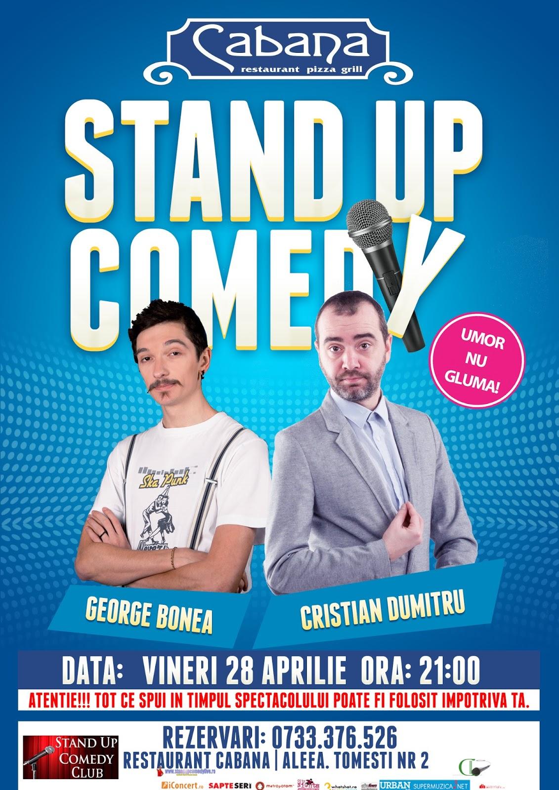 Stand-Up Comedy Vineri 28 Aprilie Bucuresti