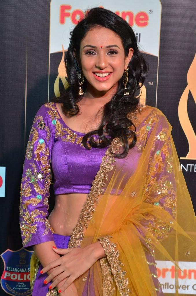 Telugu Actress Priya Shri At IIFA Awards 2017 In Violet Dress