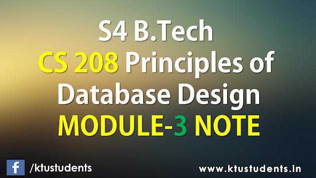 ktu cs208 note module3