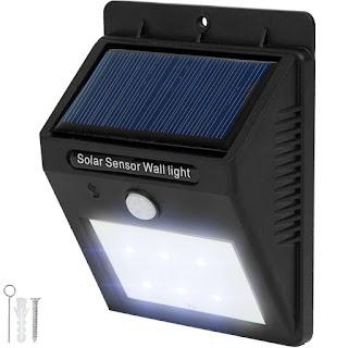 lampada led solare sensore movimento