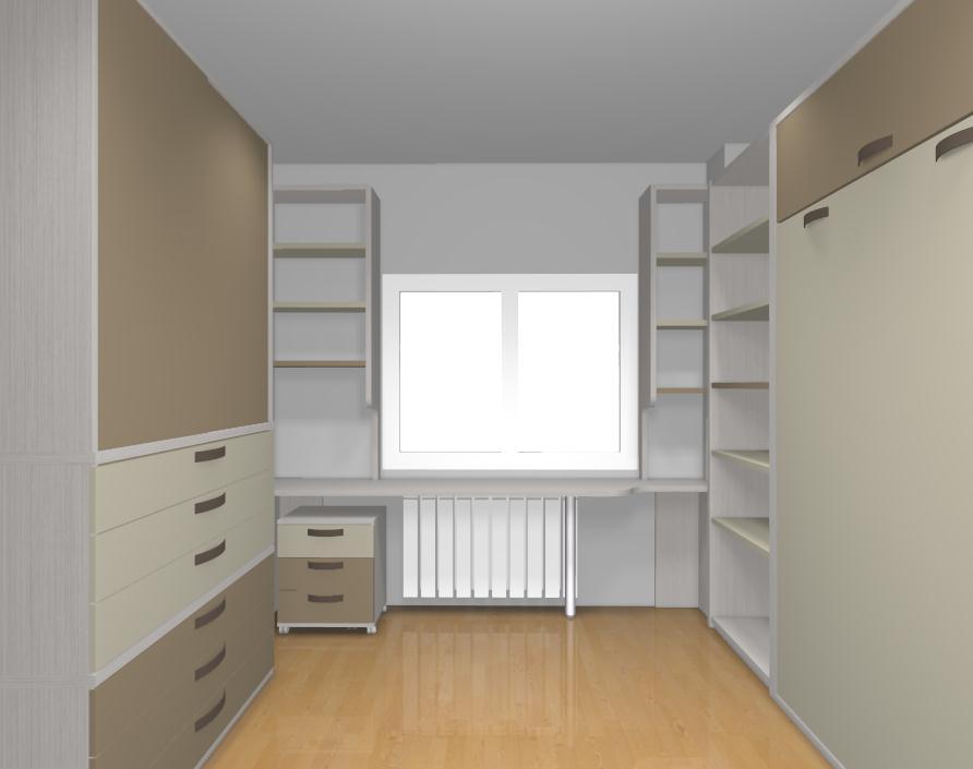 Dormitorio de matrimonio con cama abatible de matrimonio - Literas para habitacion pequena ...